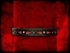 Ошейник декоративный со стразами, ширина 1.5см, черный