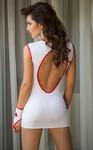 Костюм медсестры SoftLine Collection Sister (платье и перчатки), бело- красный, S/M