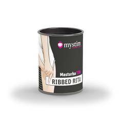 Компактный универсальный минимастурбатор Mystim MasturbaTIN Ribbed Rita - Lemalla