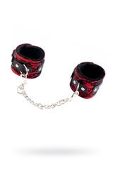 Кружевные наручники TOYFA Marcus красные, 42 см.