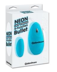 Вибропуля голубая на пульте управления 5 ф-ций Серия Neon Luv Touch
