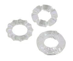Эрекционные кольца 3 шт прозрачные