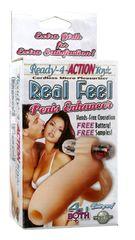 Открытая вибронасадка на пенис Ready-4-Action Real Feel
