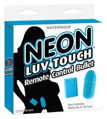 Неоновая вибропуля на пульте управления Neon Luv Touch Remote Control Bullet