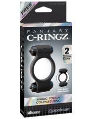 Эрекционное виброкольцо Fantasy C-Ringz Magic Touch Couples Ring - Black