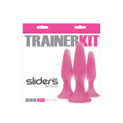 Набор 3 анальных пробки розовых разный размер Sliders-3pc Trainer Kit-Pink
