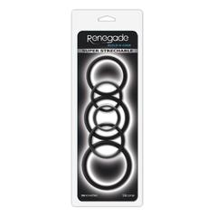 Набор эрекционных колец 6шт Renegade - Build-A-Cage Rings - Black
