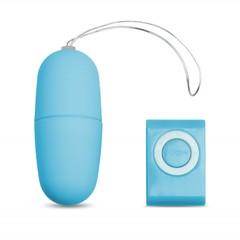 Виброяйцо с пультом управления голубое