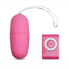 Виброяйцо с пультом управления розовое