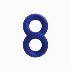 Двойное эрекционное кольцо бесконечность Renegade - Infinity Ring - Blue